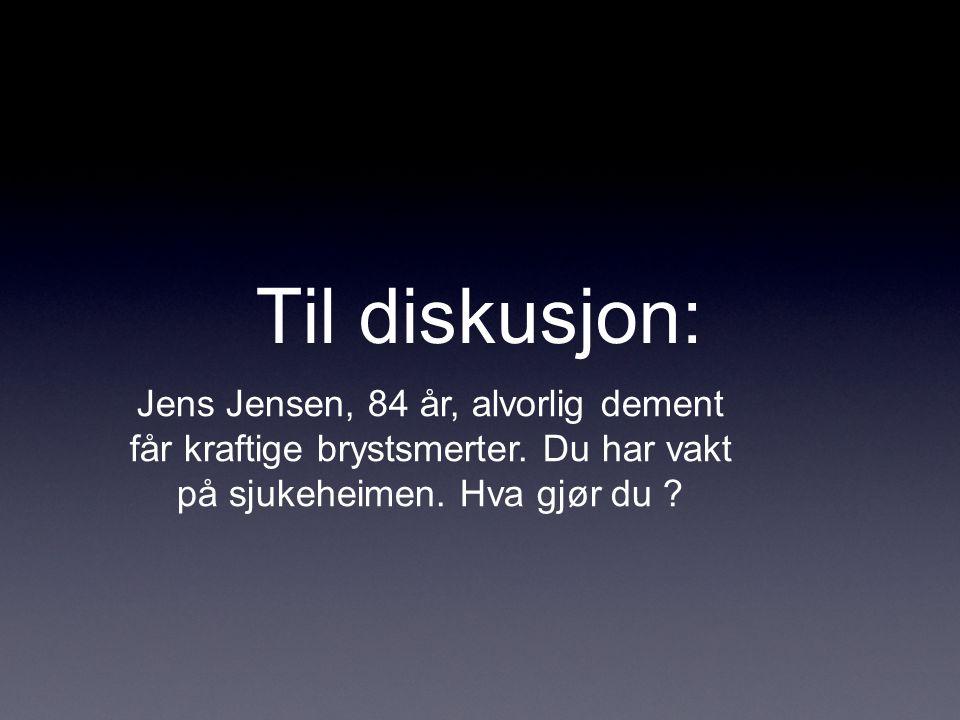 Til diskusjon: Jens Jensen, 84 år, alvorlig dement