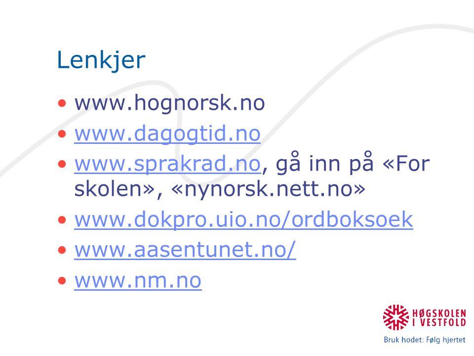 Lenkjer www.hognorsk.no www.dagogtid.no