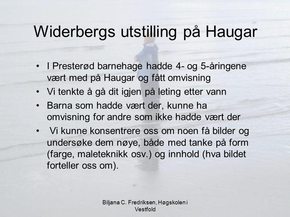 Widerbergs utstilling på Haugar