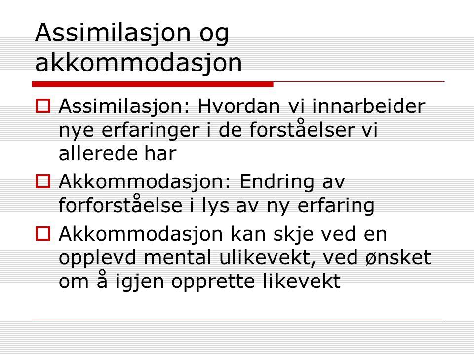 Assimilasjon og akkommodasjon