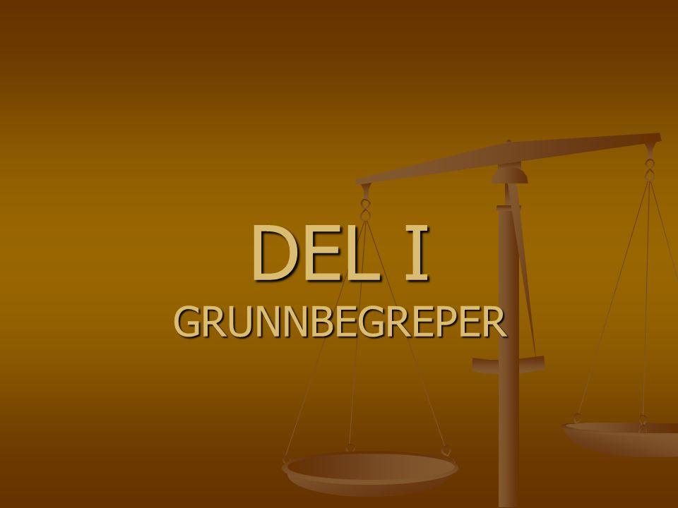 DEL I GRUNNBEGREPER
