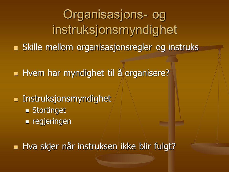 Organisasjons- og instruksjonsmyndighet