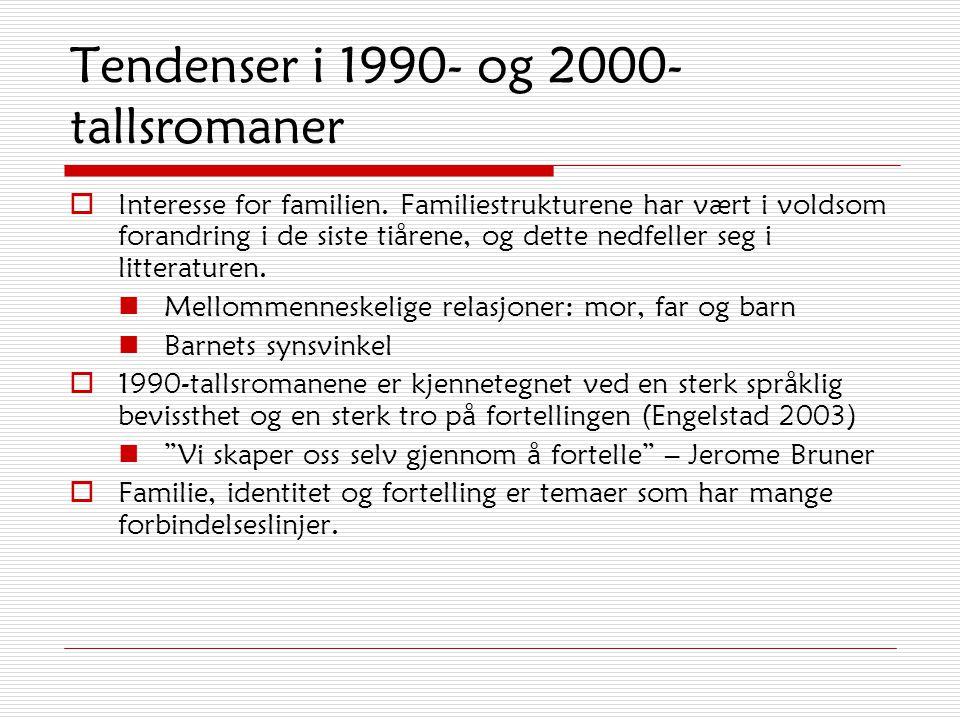 Tendenser i 1990- og 2000-tallsromaner