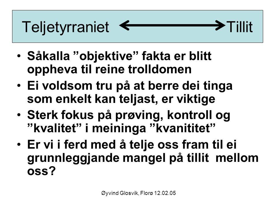 Teljetyrraniet Tillit