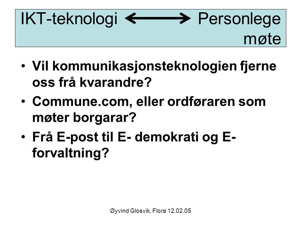 IKT-teknologi Personlege møte