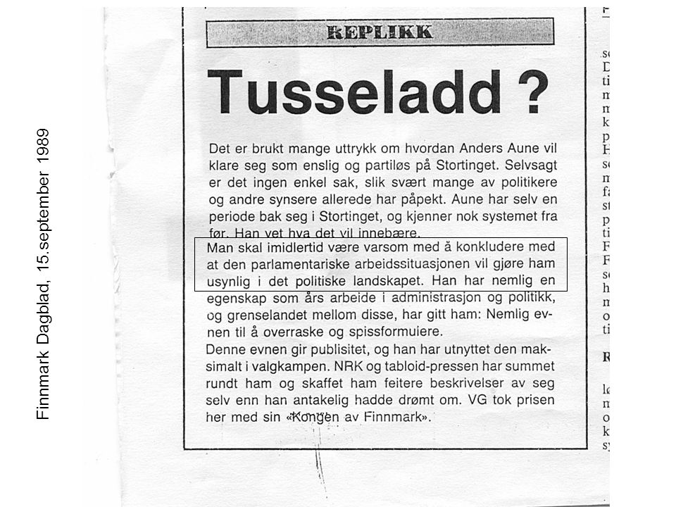 Finnmark Dagblad, 15.september 1989