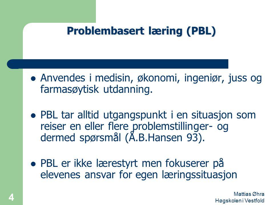 Problembasert læring (PBL)