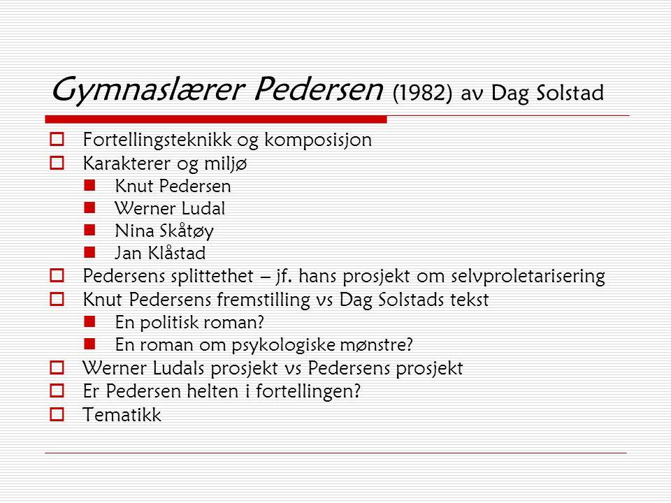 Gymnaslærer Pedersen (1982) av Dag Solstad