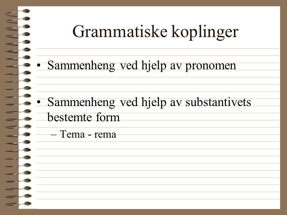 Grammatiske koplinger