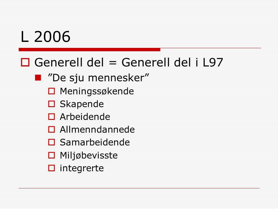 L 2006 Generell del = Generell del i L97 De sju mennesker