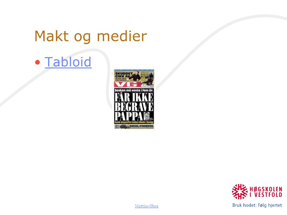 Makt og medier Tabloid