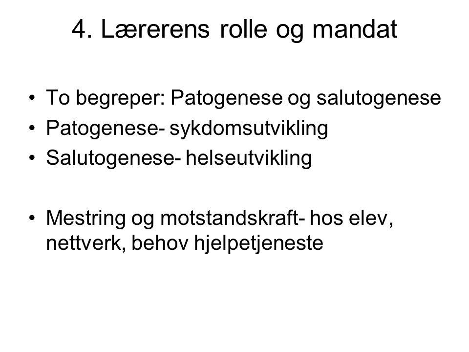 4. Lærerens rolle og mandat