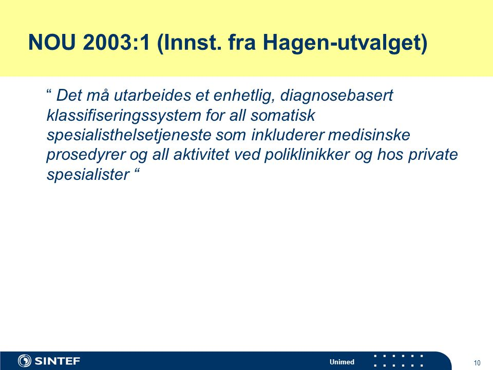 NOU 2003:1 (Innst. fra Hagen-utvalget)