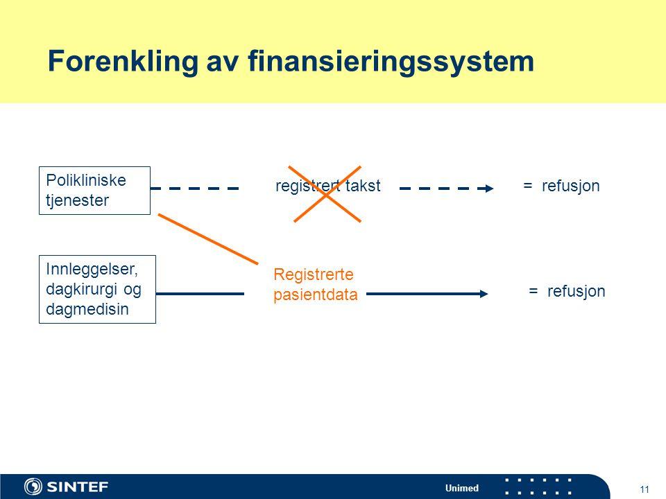 Forenkling av finansieringssystem