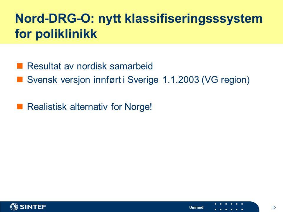 Nord-DRG-O: nytt klassifiseringsssystem for poliklinikk