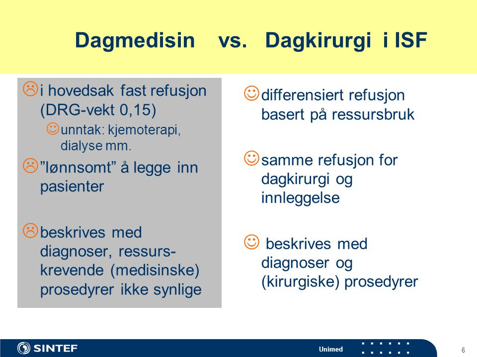 Dagmedisin vs. Dagkirurgi i ISF
