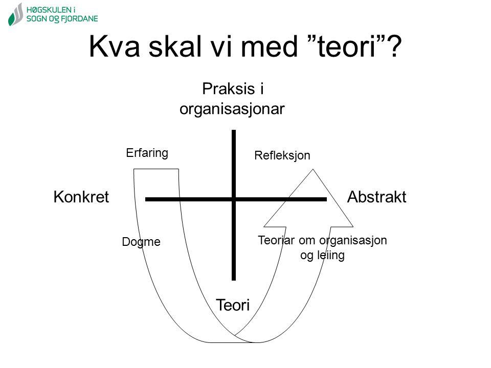 Teoriar om organisasjon og leiing