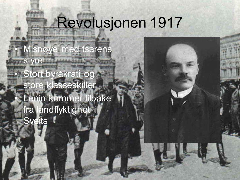 Revolusjonen 1917 Misnøye med tsarens styre