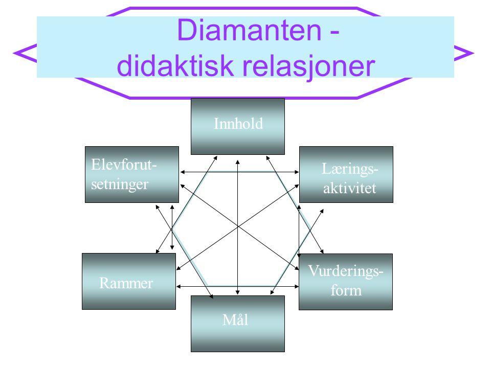 Diamanten - didaktisk relasjoner