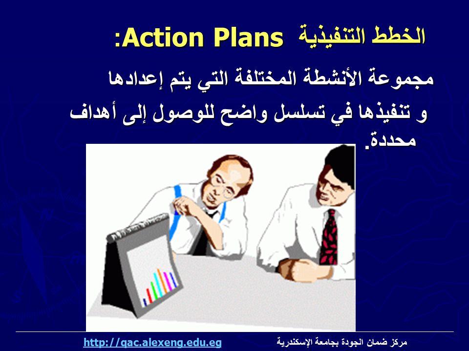 الخطط التنفيذية Action Plans: