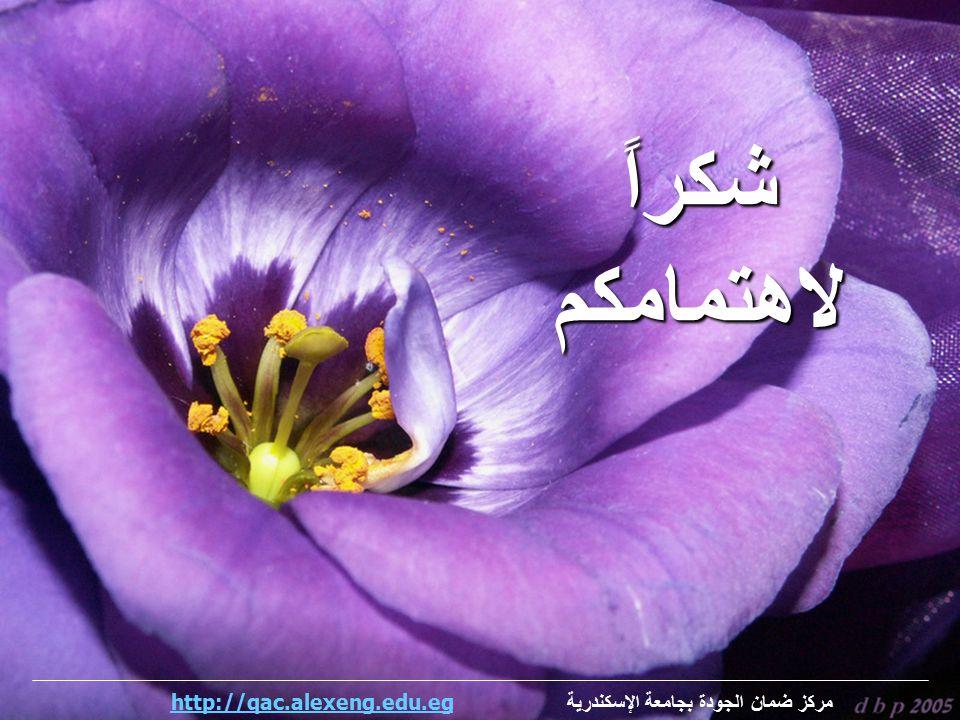 شكراً لاهتمامكم مركز ضمان الجودة بجامعة الإسكندرية http://qac.alexeng.edu.eg
