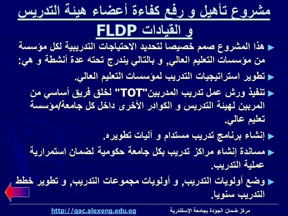 مشروع تأهيل و رفع كفاءة أعضاء هيئة التدريس و القيادات FLDP