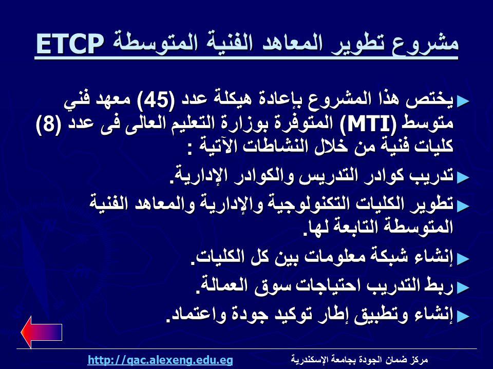 مشروع تطوير المعاهد الفنية المتوسطة ETCP