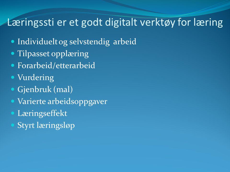 Læringssti er et godt digitalt verktøy for læring