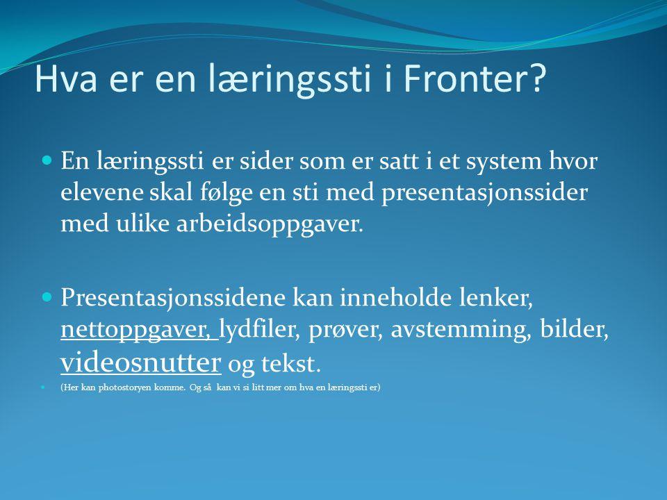 Hva er en læringssti i Fronter