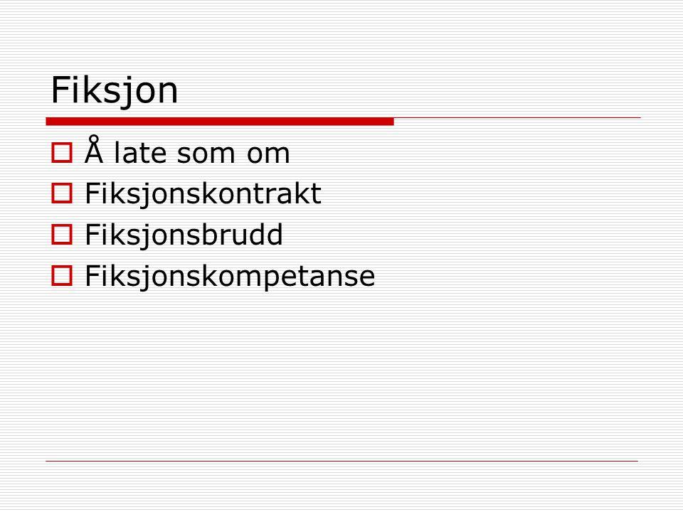 Fiksjon Å late som om Fiksjonskontrakt Fiksjonsbrudd