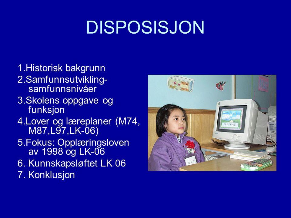 DISPOSISJON 1.Historisk bakgrunn 2.Samfunnsutvikling- samfunnsnivåer