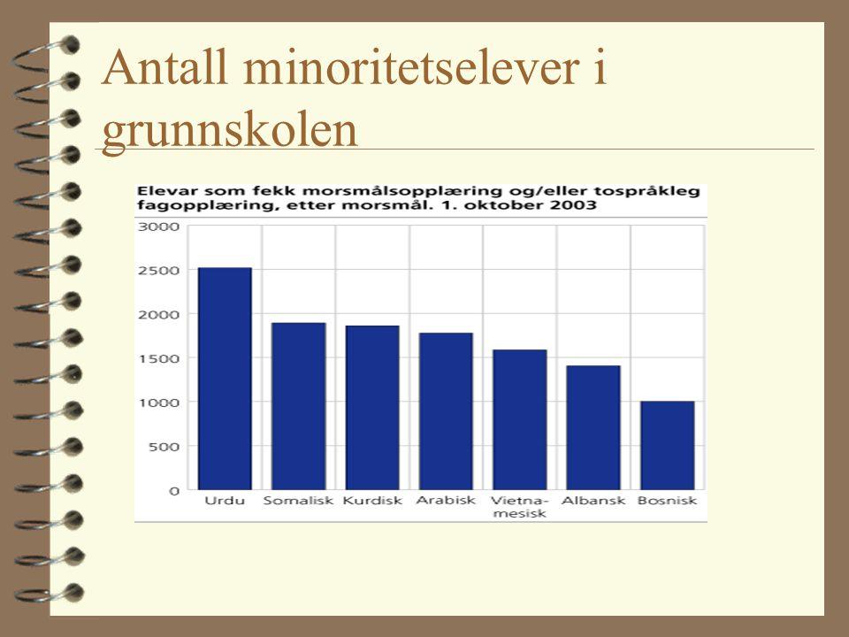 Antall minoritetselever i grunnskolen