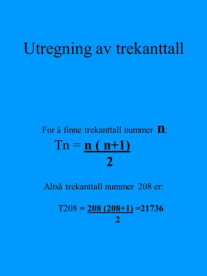 Utregning av trekanttall
