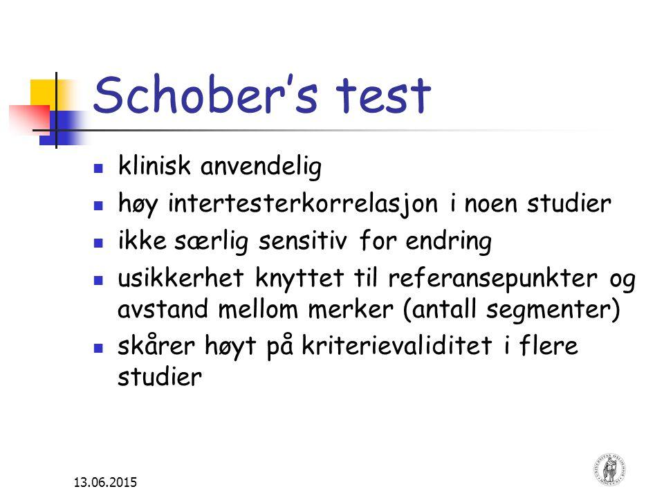 Schober's test klinisk anvendelig