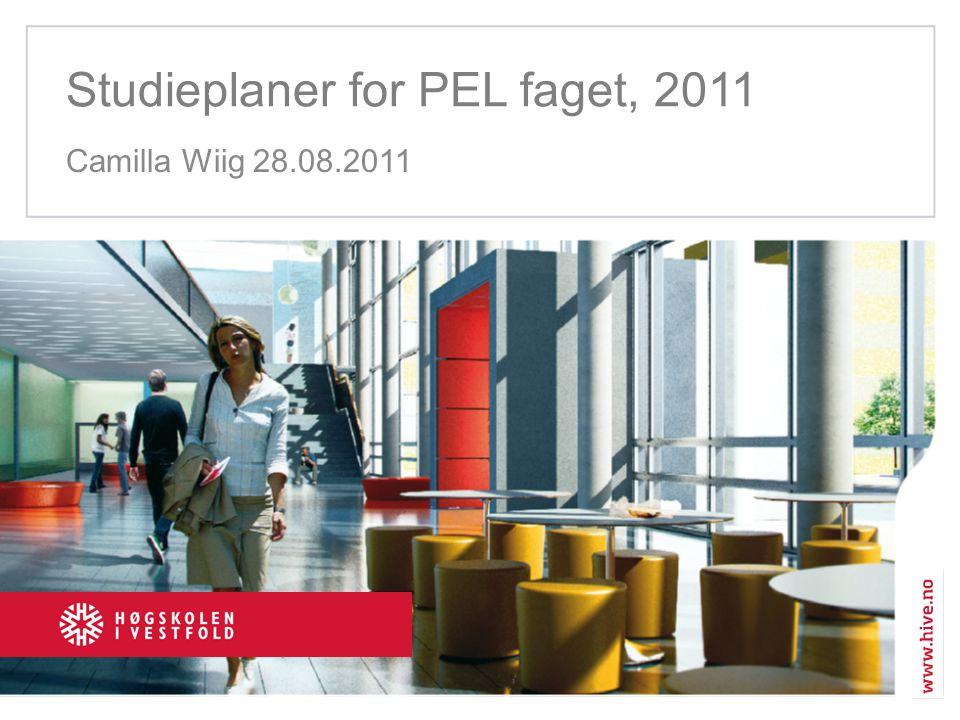 Studieplaner for PEL faget, 2011
