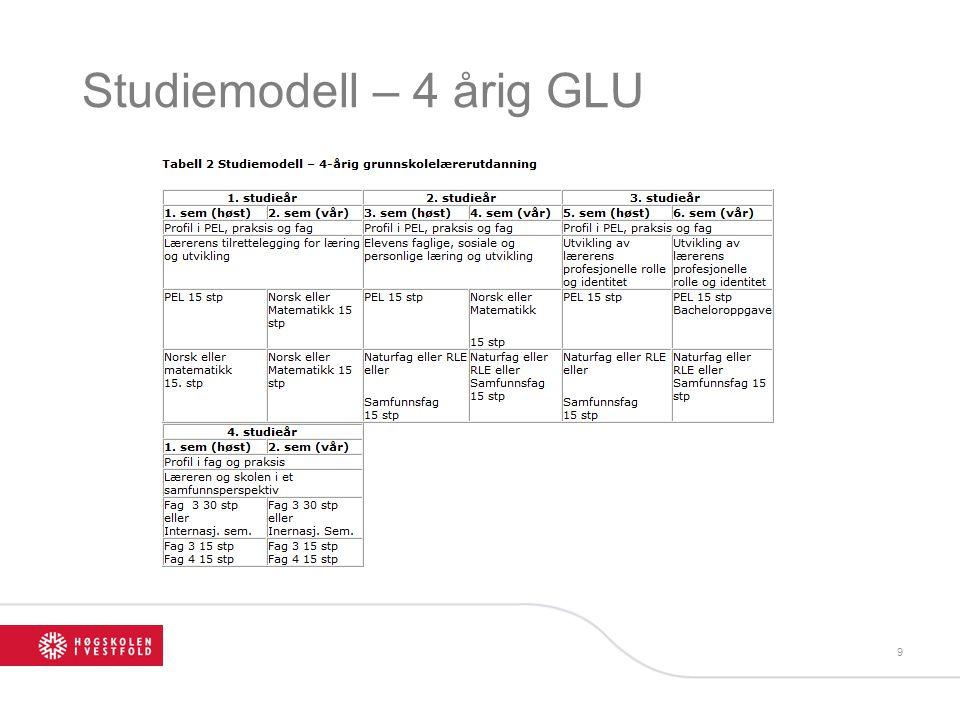 Studiemodell – 4 årig GLU