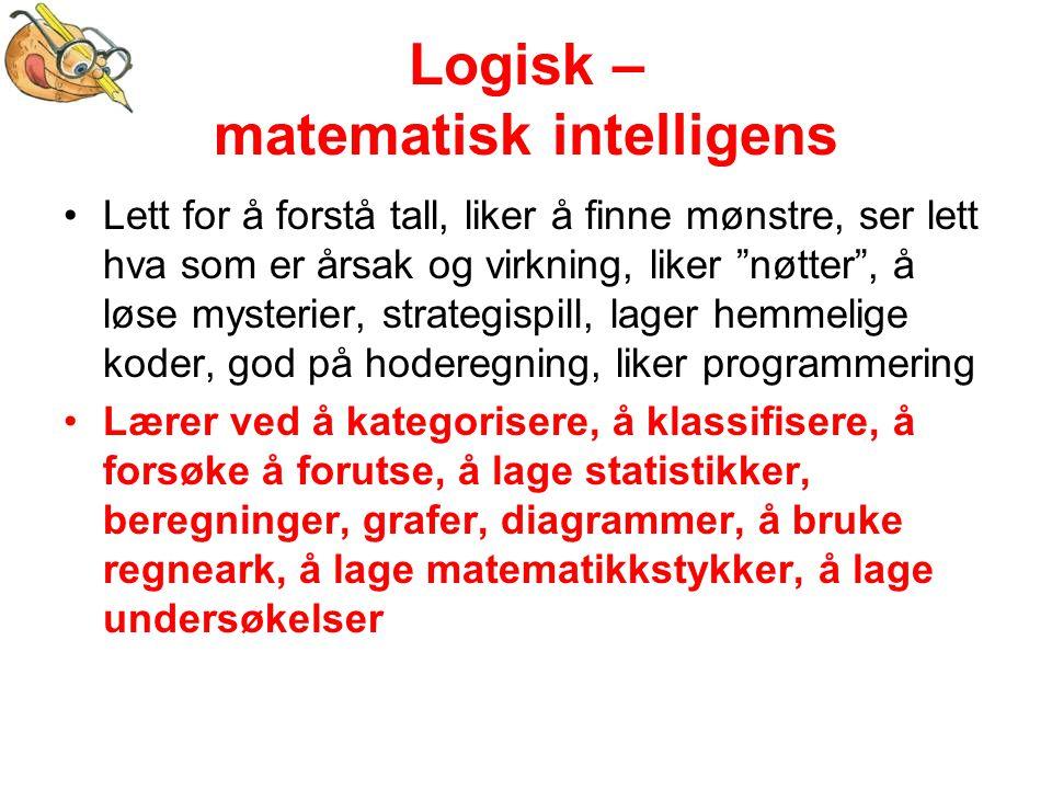 Logisk – matematisk intelligens