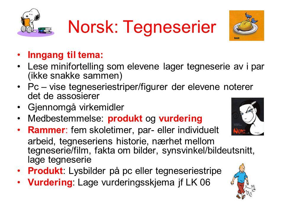 Norsk: Tegneserier Inngang til tema: