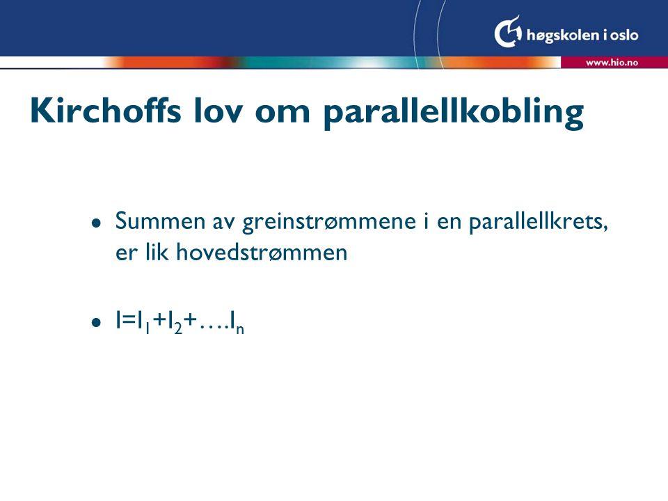 Kirchoffs lov om parallellkobling