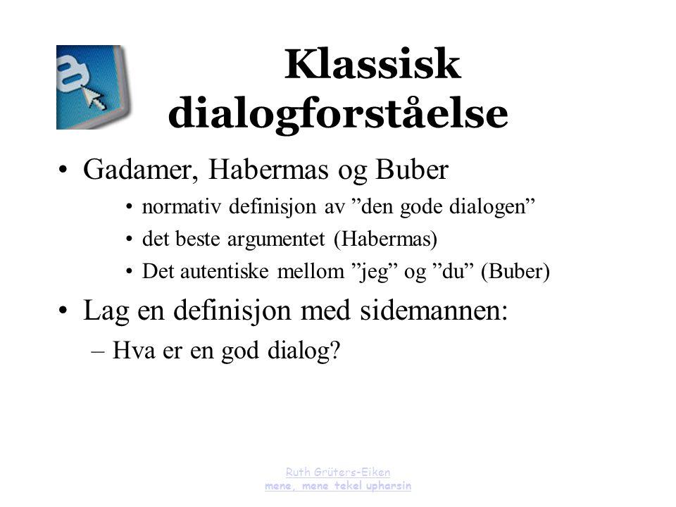 Klassisk dialogforståelse
