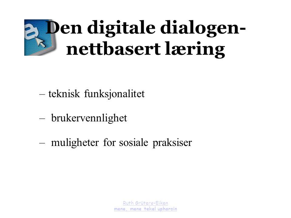 Den digitale dialogen- nettbasert læring