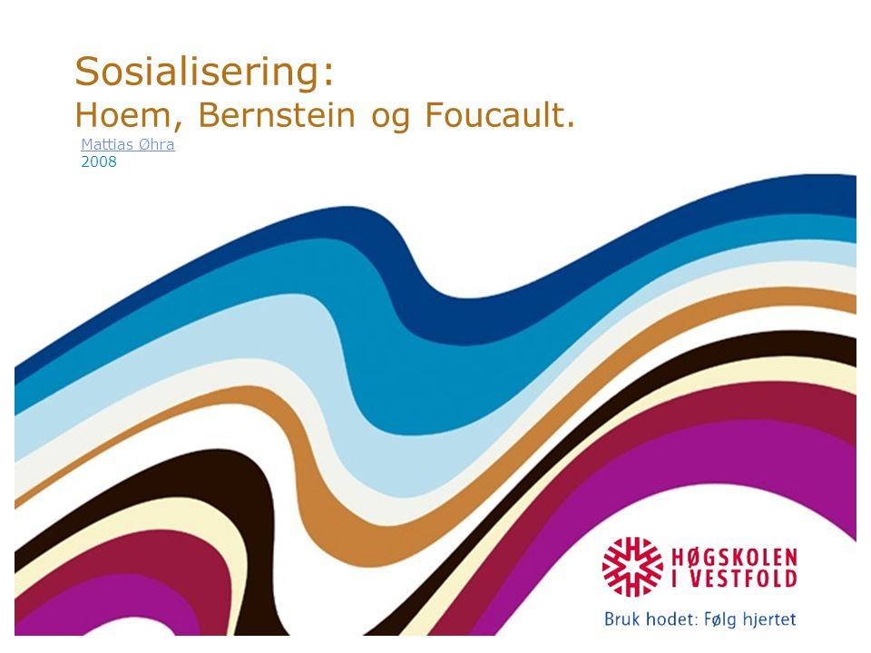 Sosialisering: Hoem, Bernstein og Foucault.