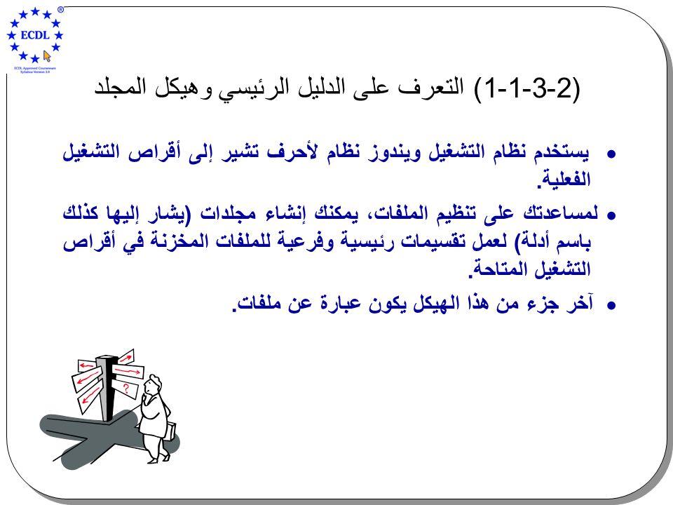 (2-3-1-1) التعرف على الدليل الرئيسي وهيكل المجلد