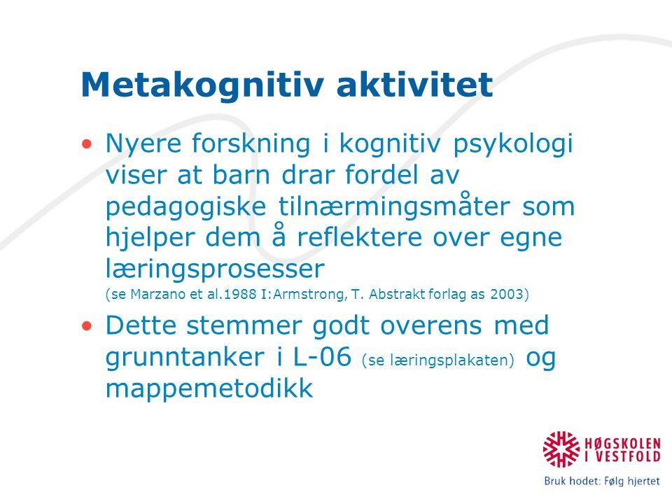 Metakognitiv aktivitet