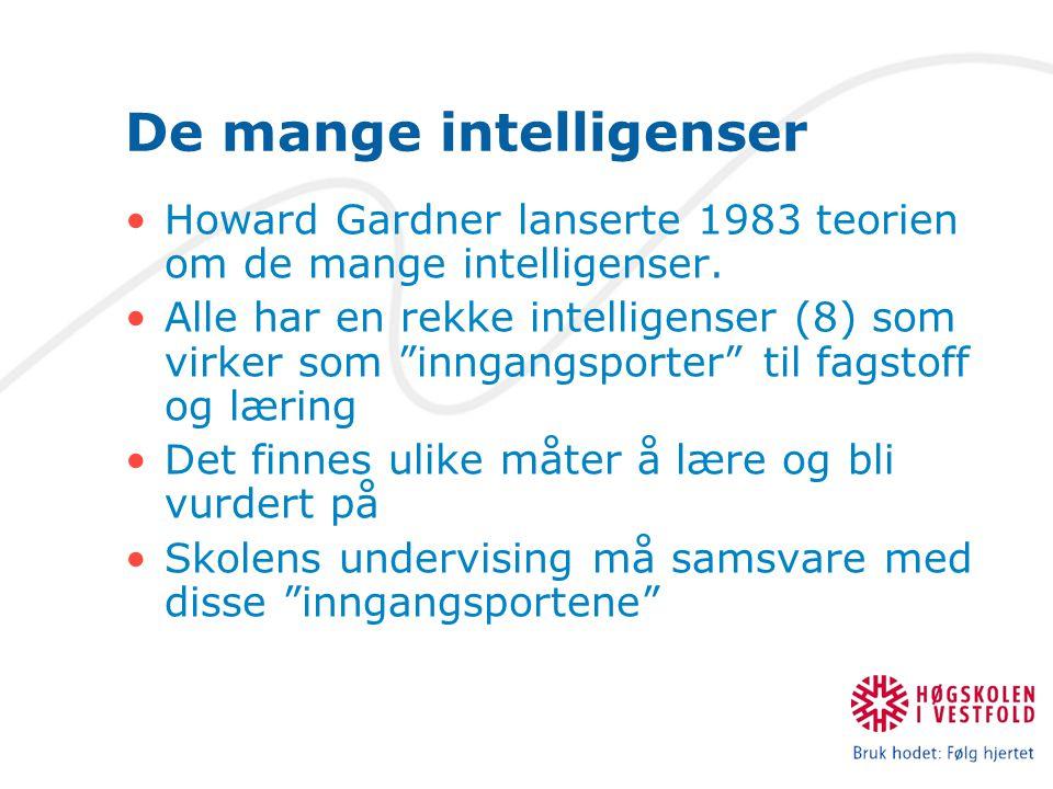 De mange intelligenser