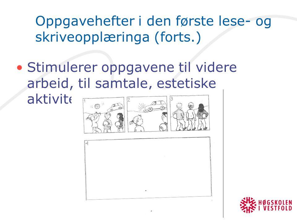 Oppgavehefter i den første lese- og skriveopplæringa (forts.)