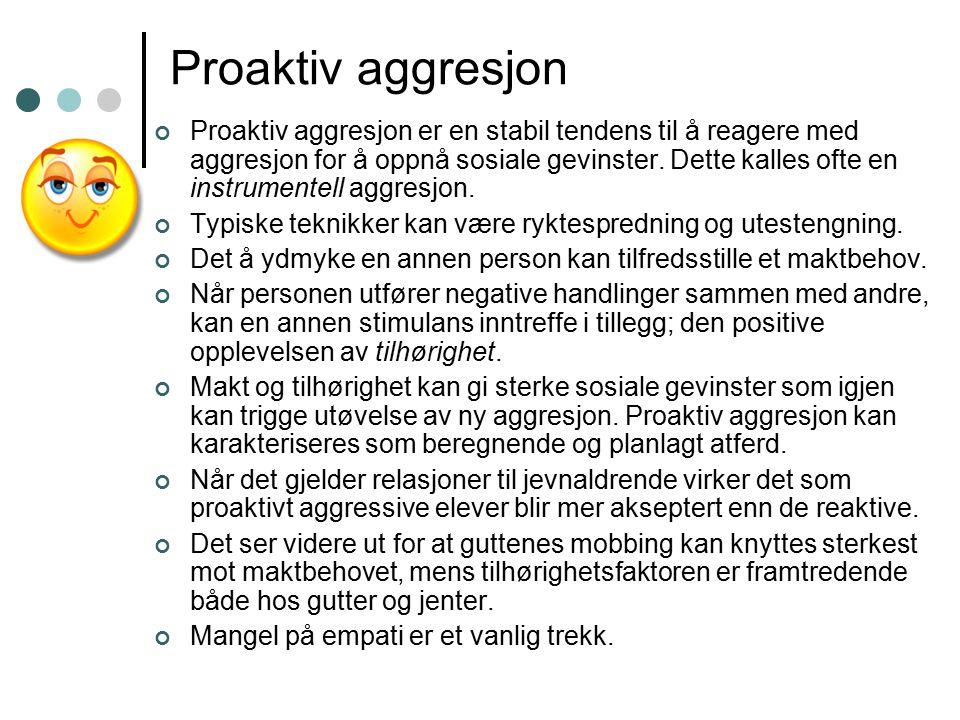 Proaktiv aggresjon