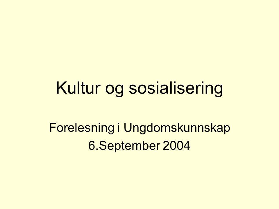 Kultur og sosialisering