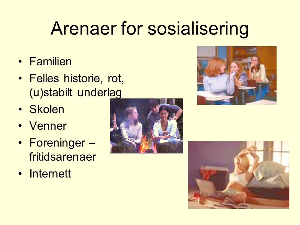 Arenaer for sosialisering