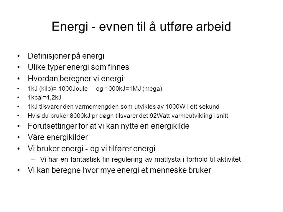 Energi - evnen til å utføre arbeid